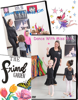Children's Dance and Creative Movement DVDs and Friendship Book, Yoga Cards by Kim Black