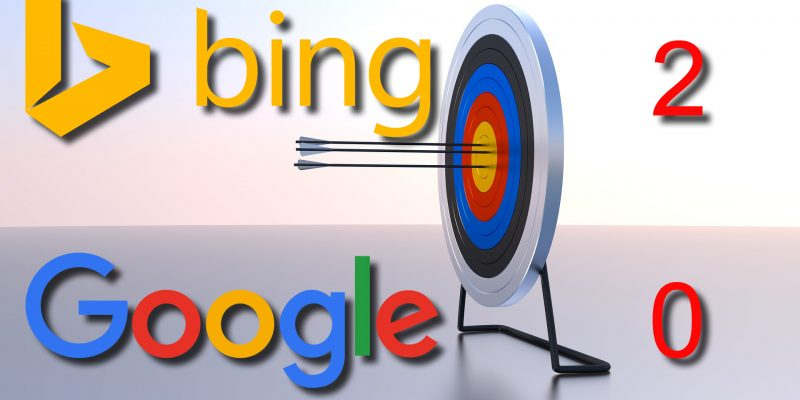 Google vs. Bing: Bing 2, Google 0