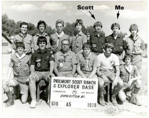 Fred Black(me), Scot Martin Philmont Scout Ranch 1978