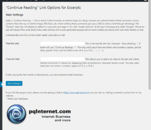 WordPress Continue Reading Link Plugin