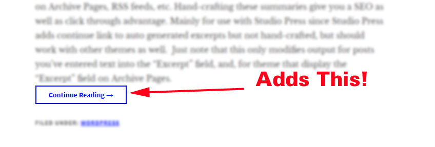 243f232741a WordPress Continue Reading Link Plugin for Excerpts