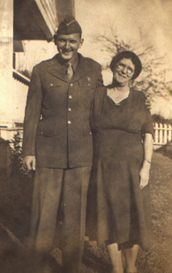 My Grandfather, Clyde Kirkman (1915 - 1989) and my Great-Grandmother, Ada Chrisco Kirkman