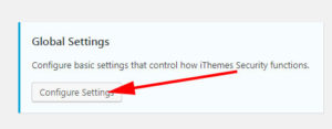 iThemes Security Global Settings