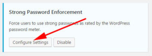 iThemes Security Strong Password Enforcement
